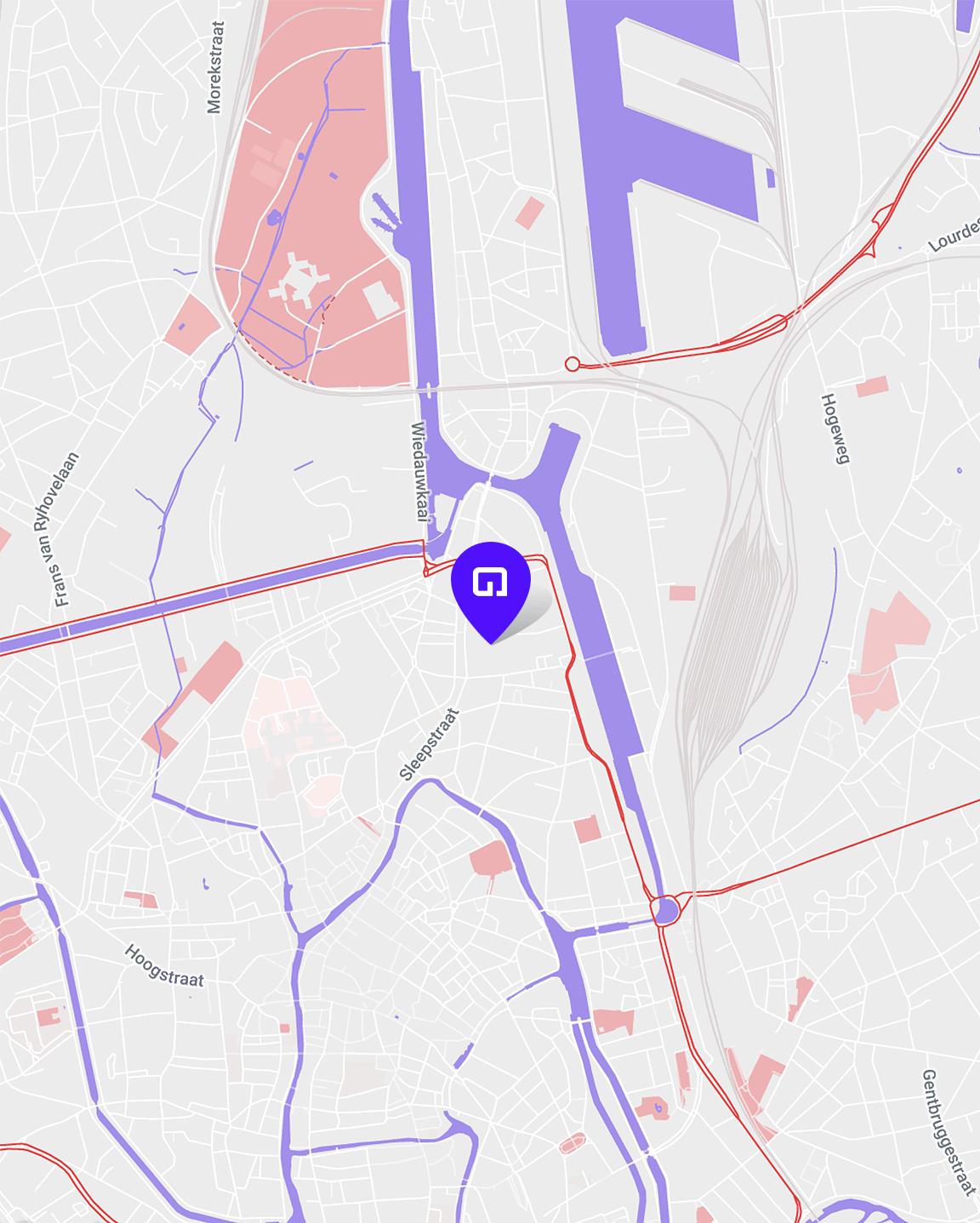 Glue map
